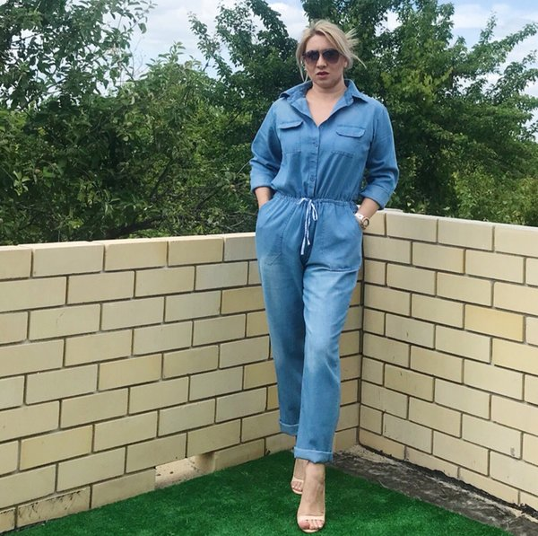 Dropshipping New Bodycon Romper Jean Cloth Loose Jumpsuit Rompers Womens Spring Summer Streetwear bodysuit long sleeve