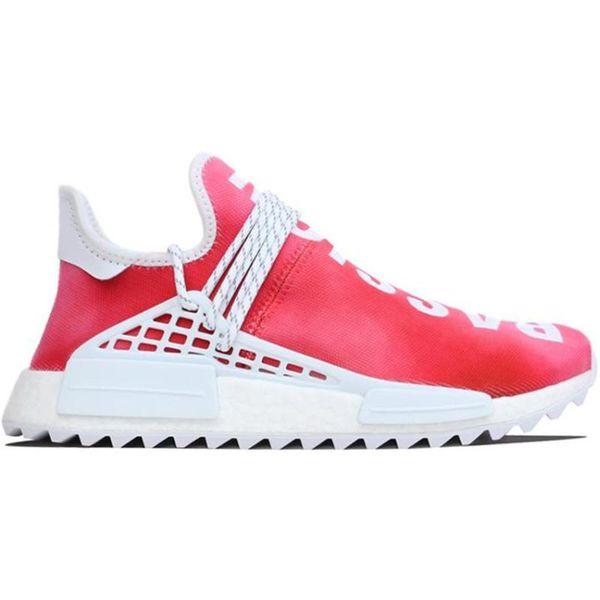 Zapatillas de running Human Race Trail Hombre Mujer Nerd Pharrell Williams Hu Black Cream White Equality Designer Trainer Sport Sneaker Size 36-46 CSAD