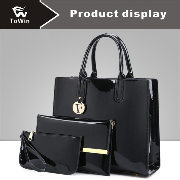 Ladies Luxury New Women Handbags High Quality PU Leather Shoulder Bag Smooth PU Leather Surface Tote Purse 4 Colors Optional Wholesale
