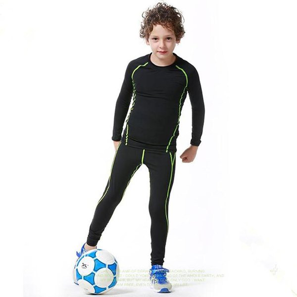 Sätze Kompression Basketball Sportswear Fußball Basisschicht Hosen Langarm-Shirts Strumpfhosen Sport Leggings fitnessThe Preis