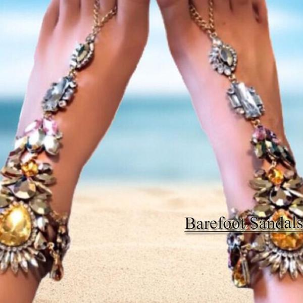 Bohemia playa sandalias descalzas bodas