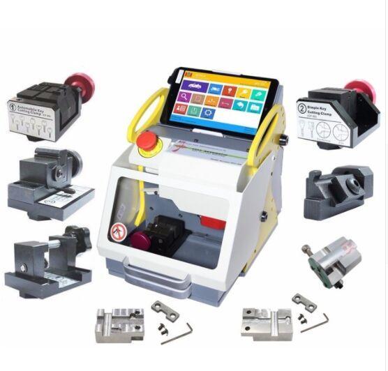 Top 2019 DHL Free Shipping SEC E9 Full Clamps CNC Automatic Key Cutting Machine For Car Keys & House Keys Better Than Slica I80 Key Machine