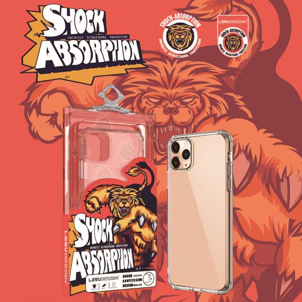 iphone 11 pro x xs xr xs maksimum 7 8 artı için LEEU TASARIM 2019 jel TPU crystle şeffaf koruyucu ağır yumuşak tampon cep telefonu kasayı