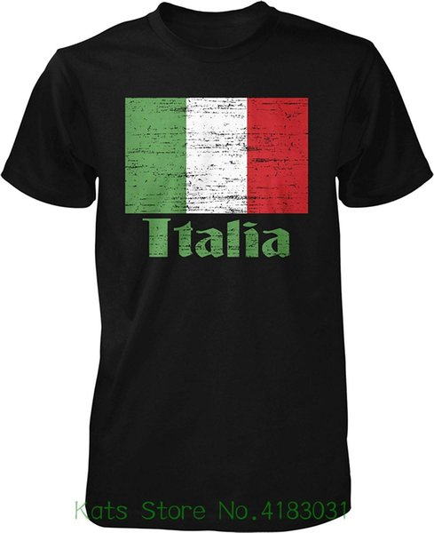 Hoodteez Flag Of Italy , Italian Flag , Il Tricolore Pride Men's T shirt 2018 New Arrival Men