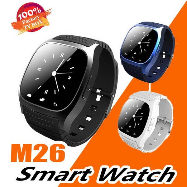 M26 Bluetooth Smart Watches M26 for iPhone 6 6S Samsung S5 S4 Note 3 HTC Android Phone Smartwatch for Men Women