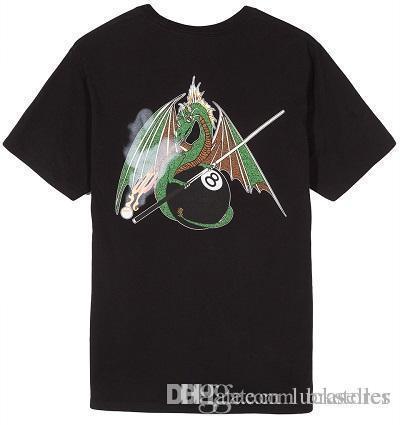 Новый дизайн футболки мужчины бренд одежды мода Летающий дракон печатных футболка мужской топ качество 100% хлопок повседневная тройники