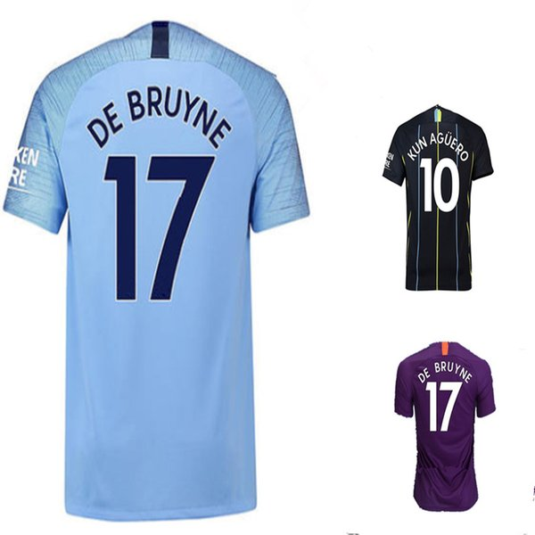DE BRUYNE DZEKO homem KUN AGUERO sane futebol Jersey 2018 2019 Cidade KOMPANY TOURE YAYA G JESUS BERNARDO Camisa