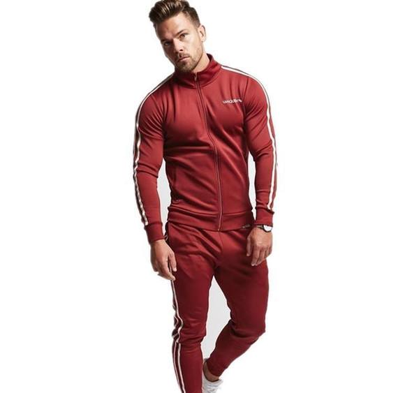 Spring New Leisure Suit Baseball Uniform Hoodies Suit Man Palace Men Sport Suit Set Youths Mens Tracksuit DH152