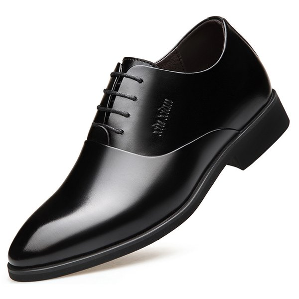 Shoes 2018 new men's shoes with height increased 6cm business suit Korean wedding invisible men's shoes with height increased