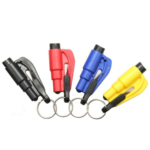 100PCS Safety Glass Breaker Rescue Original Keychain Mini Car Window Breaker Emergency Hammer Kit Seatbelt Cutter tool