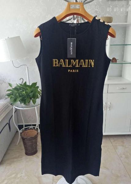 2019 sommer neue Mode Stil Luxus Design Top Qualität balman Frauen Mädchen Dame Dünne Lange Ärmel Strickpullover Kleid