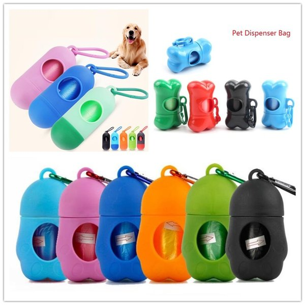 best selling 20 Styles Portable Pet Dispenser Bag Dog Poop Bag Garbage Case Carrier Holder Disposable Bags For Dogs Cats Outdoor Pet Supplies Refuse Bag
