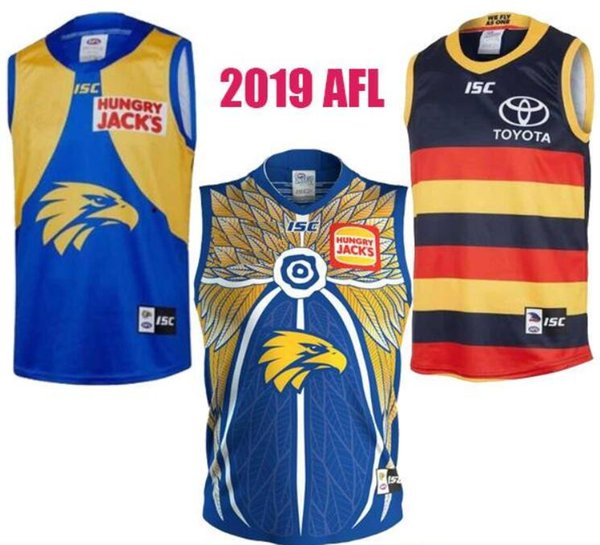 2019 West Coast Eagles Guernesey Adelaide Crows Vest Jersey Eddie Betts sans manches 300e Football australien AFL Maillots Sport chaud