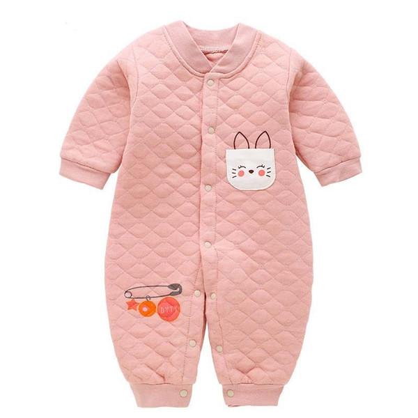 Boa qulaity roupa do bebê novos macacões recém-nascidos do bebê menino menina dos desenhos animados romper roupas da criança de manga longa desgaste do sono roupas infantis