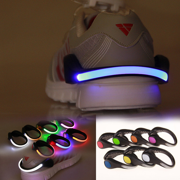 Novel Lighting Night Running LED Shoes Clip Safety Signal plastic LED shoes Clips flash luminous Light outdoor safety Shoes Clip
