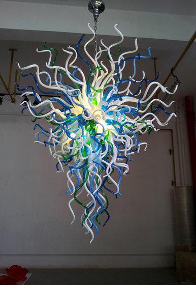 Contemporain De Luxe Soufflé Verre LED Lustre Maison Salon Art Décoration Économie D'énergie Source De Lumière Chihuly Style Lustre