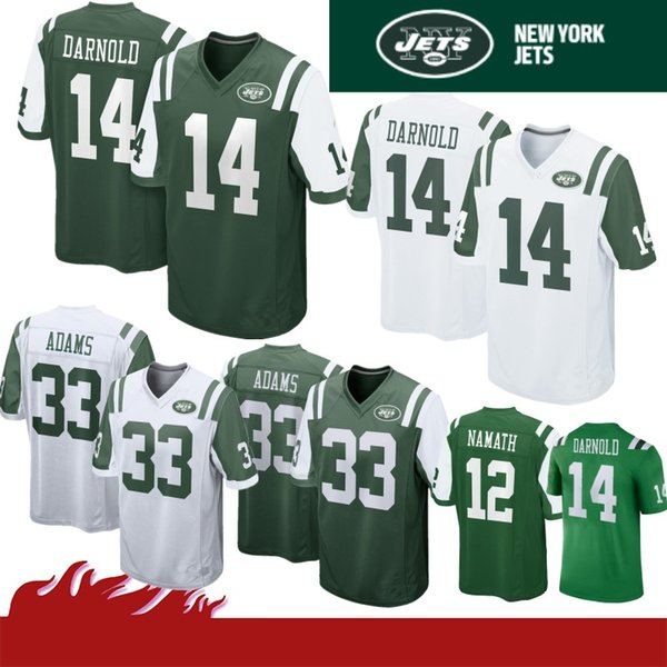 new product 19563 aba30 2019 33 Jamal Adams 14 Sam Darnold New York Jerseys Jets 12 Joe Namath 11  Robby Anderson Jersey 2019 New Top Quality 100% Stitched Jersey From ...