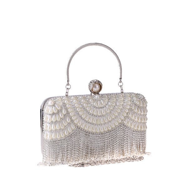New Dinner Bag Tassel Diamond Bag Clutch Dress Evening