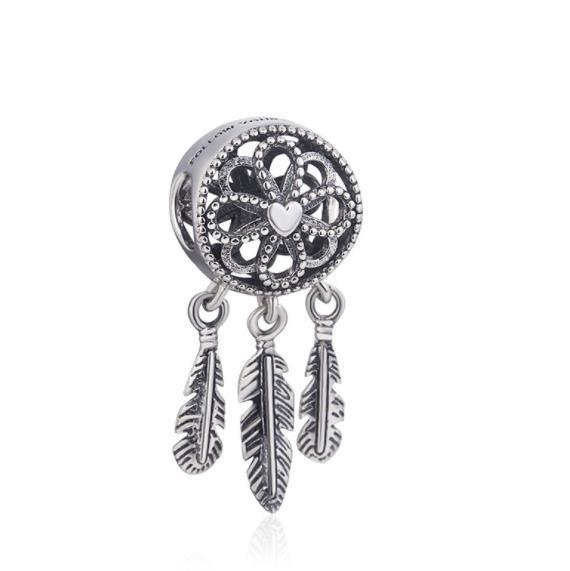 Marque Pandora Perle 925 Sterling Silver Dream catcher pendentif perles Pour Les Femmes Bracelet collier Charms Bijoux Cadeau W61