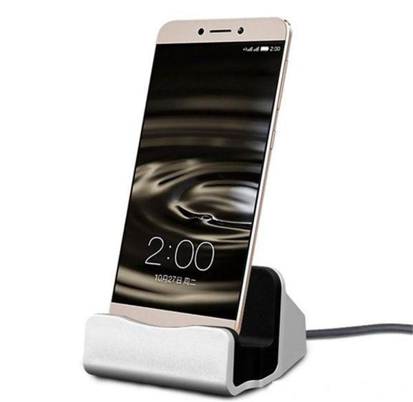 Зарядное устройство для док-станции USB Sync Data Cable Док-станция для зарядки Настольная подставка для док-станции для мобильных телефонов Android Type-c Универсальный DHL Free
