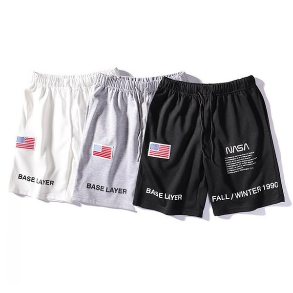 NASA x Heron Preston Shorts pour Hommes Designer Lettre Broderie Cordon D'été Casual Shorts 3 Couleurs Tendance Pantalon De Survêtement M-2XL