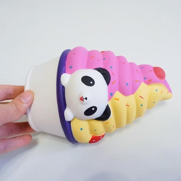 Acheter Squishy Slow Rebound Kawaii Panda Crème Glacée Super Lente Hausse Original Dessin Animé Mignon Pain De Gâteau Ventilation Décompression Jouets