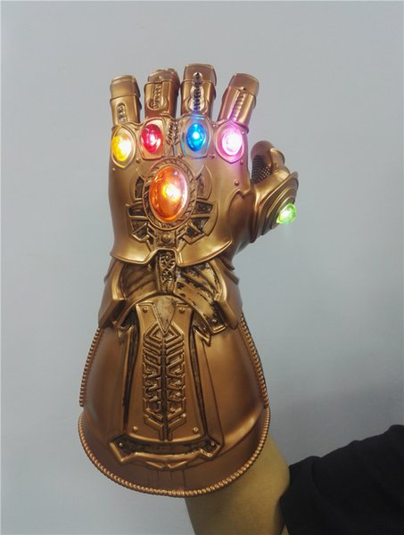 Infinity Gauntlet Infinity War Thanos Gloves Cosplay Prop Mask LED Gloves PVC Toys Kids Adult Halloween Party 2019