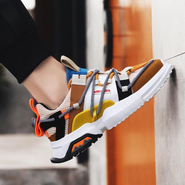 Moda Retro Baba Sneakers Adam Rahat Ayakkabılar Gelgit Adam Koşu Sneakers Ayakkabı Açık kaymaz Yürüyüş Ayakkabıları Adam zapatos hombre