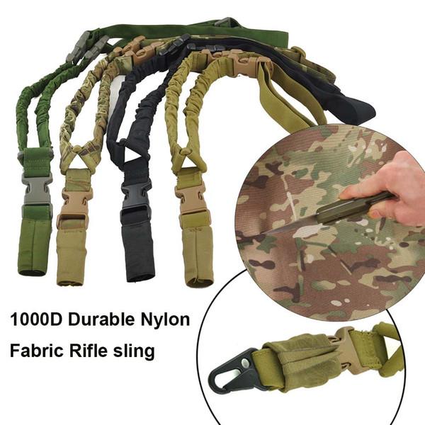 1000D Nylon Tactical rifle gun sling Impermeable y Durable 1 solo punto sling correa para el hombro Para Caza al aire libre CS Cosplay Juegos