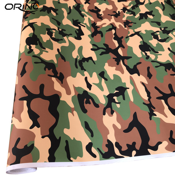 Snow Forest Camouflage Vinyl Graphic Decal Moto Race Car Decalcomanie Camion SUV Nero Verde Camo Veicolo Wrap Covering Foil Air free