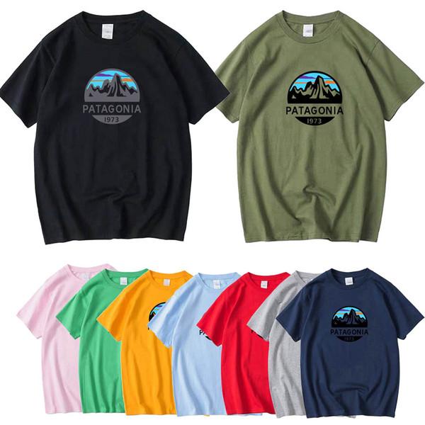 Sonbahar Yüksek Kalite Patagonia S-3XL Lüks Tasarım Tasarımcısı Erkek Yaz Kısa Kollu T Gömlek Tee Erkekler Gevşek Üst Artı Boyutu A2013