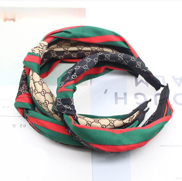 Ткань зеленый красный полосатый повязка на голову высококачественный сращивание плед оголовье аксессуары для волос инструменты 12 стилей бесплатная доставка