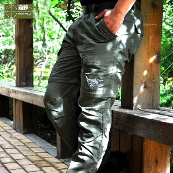 Hanwild Men Summer Outdoor Hiking Quick Dry Pant Male Fishing Sports Trekking Trousers Anti-uv Plus Size Camping Hunting P54 C19041201