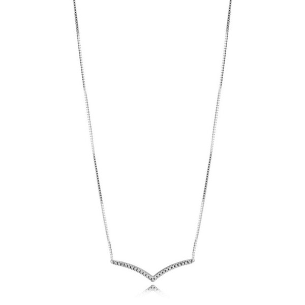2019 NEW 100% 925 Sterling Silver High Quality Early Spring Fash Hope Collier Necklace Fit Original Fashion Jewelry Gift