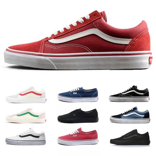 designer old skool casual shoes vintage classic fear of god men canvas shoe triple white black mens womens sneaker espadrilles free shipping