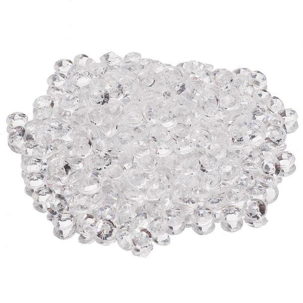 Venta al por mayor-5000Pcs Borrar Faux Fake Sprinkle Blink Diamonds Confetti Craft DIY Banquete de boda de mesa Dispersión Decoración 4.5mm