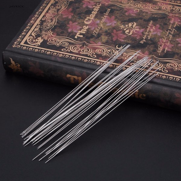 JAVRICK 30 x Beading Needles Threading String Cord Jewelry Craft Making Tool 0.6 x 120mm NEW