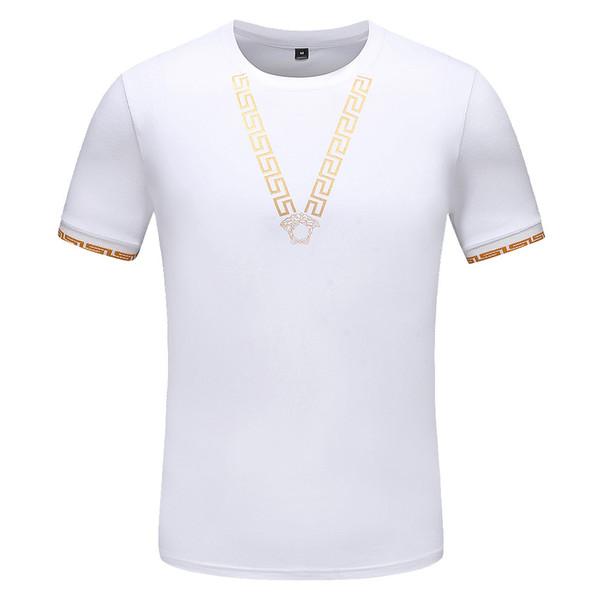 fei555 / 2019 sommer italien designer männer casual neue marke polos herren buchstaben reine polo shirts baumwolle kurzarm casual t-shirt medusa männlich po