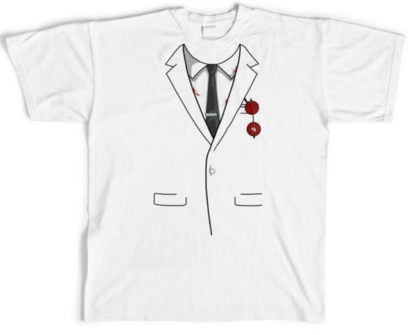 Fashion Men/Women 3D Print nurse tie suit Casual T-Shirt Short Sleeve F099