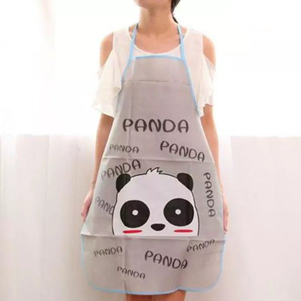 best selling 50*70cm Waterproof and Oilproof Princess Lady Apron Kitchen cooking Half-length adult sleeveless waistband