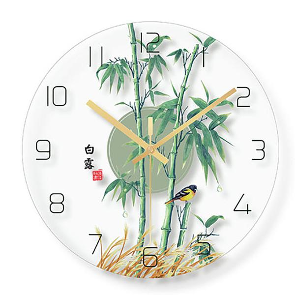 China Country Creative Wall Clock Living Room Dining Room Bedroom Home Decor Wall Clocks European Retro Silent Clock Quartz
