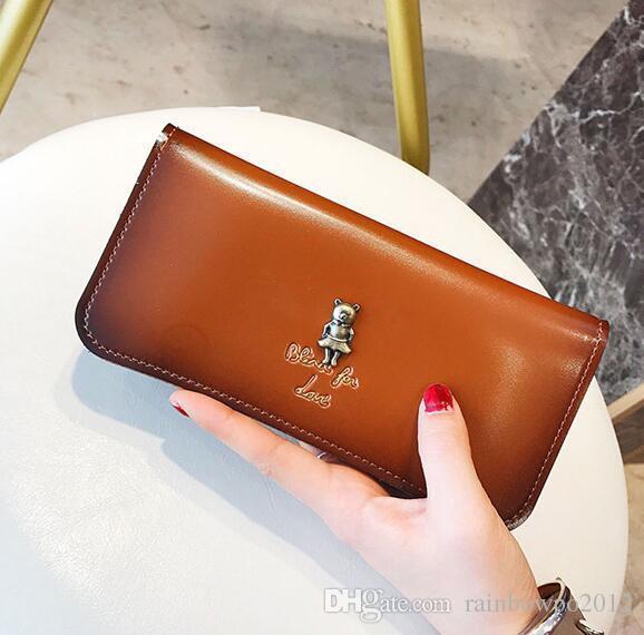 Фабрика прямых продаж женщин сумки ретро цвет кожи длинный кошелек большой емкости женская сумка для мобильного телефона модный металлический портативный wa