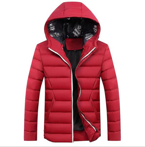 Новые мужские зимние куртки мода с длинным рукавом теплый толстый мужской парки мужские случайные мужские пальто M-4XL