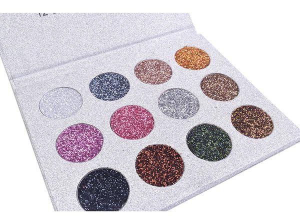 DHL Free 12 Colors Eyeshadow Drop Shipping Gold Metallic Eye Shadow Palette Waterproof Glitter Easy to Wear Glod Eye Shadow Making Up