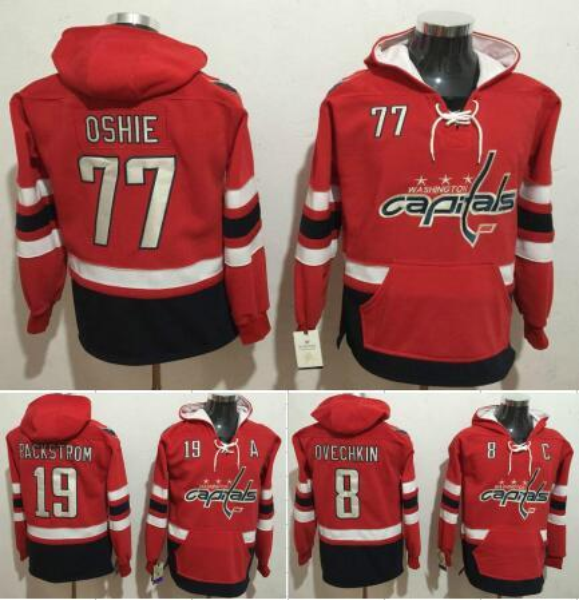 new concept 43b61 8bf3d 2019 Washington Capitals Hockey Men Jerseys 8 Alexander Ovechkin 19 Nicklas  Backstrom 77 T.J Oshie Hockey Hoodie Hooded Sweatshirt Jackets Jersey From  ...