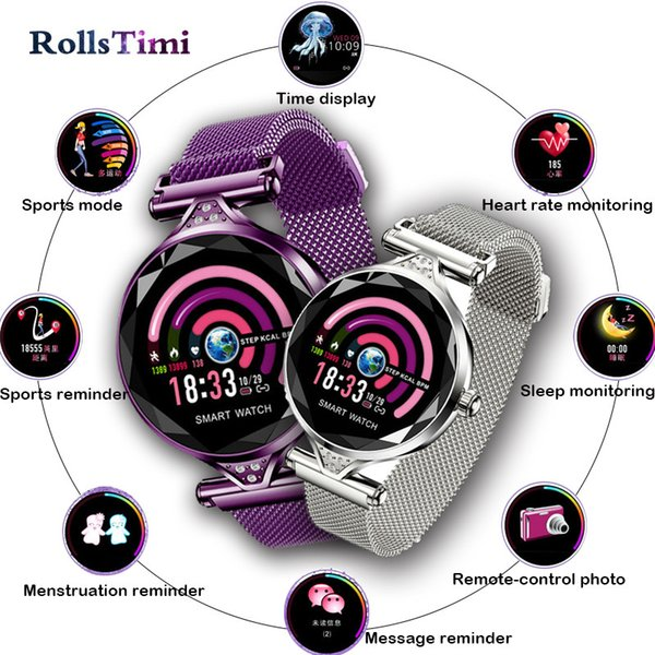 GIMTO H1 Smart Watch Women Luxury Heart Rate Monitor Smartwatch Lady Gift Fitness Bracelet Pedometer for IOS Android Phone +box