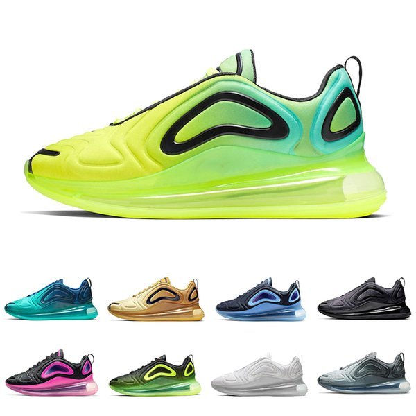 air max 720 shoes  2019 hot sale Sea Forest KPU Men Women OG Running shoes Sunrise TPU Team Crimson Sea Forest Sunset Mens trainer Sports sneakers 36-45