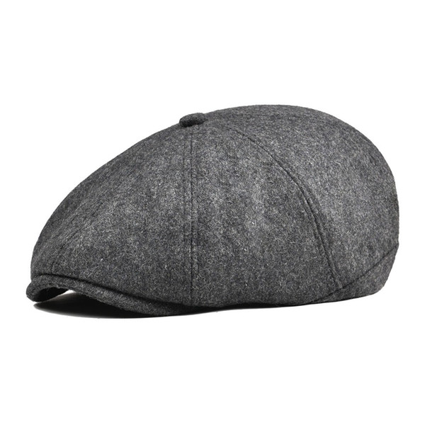 wholesale Tweed Woollen Newsboy Cap Men Beret Women 8 Panel Country Baker Boy Hats Caps Flat Ivy Hats Retro Gatsby Hat 111