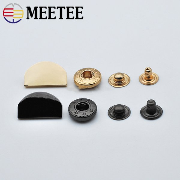 Meetee 21x13mm Metal Snap Buttons Sewing Botones Down Coat Belt Decorative Button Outerwear Overcoat Fasteners Press Stud Buckles