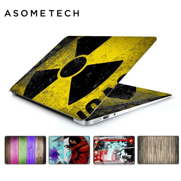 Rainbow Wooden Pvc Laptop Sticker Decal For Apple Macbook Air Pro Retina 11 12 13 15inch Us Keyboard Graffiti Protective Covers T6190615